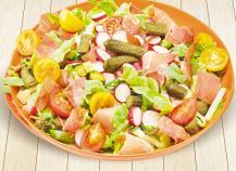 Salade croquante au jambon de parme