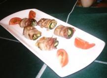 Petits roulés de courgettes au bacon