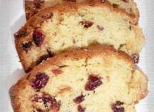 Cake à la crème d'amandes et aux cranberries