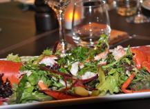 Salade gourmande de homard à la coriandre fraîche