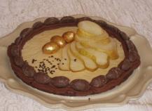 Tarte chocolat-verveine