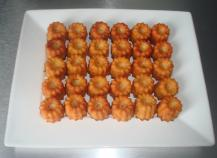 Minis cannelés chorizo/ emmental