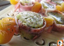 Brochettes sucrées salées courgettes abricots