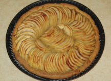 Tarte aux pommes avec sa couverture vanillée