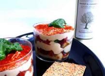 Tiramisu au parmesan et tomates confites
