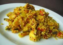 Quinoa au poulet et légumes du soleil