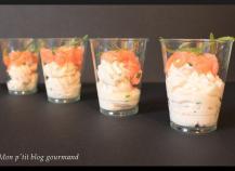 Verrine mascarpone saumon