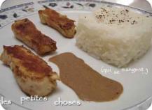 Emincé de poulet, sauce au chocolat épicée