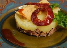 Parmentier de canette au foie gras