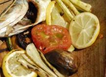 Poisson du marché en tuile, sauce Romesco
