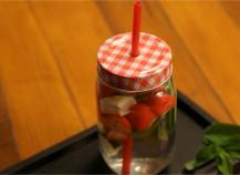 Détox water à la fraise