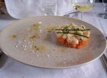 Tartare de langoustine, cumin et ciboulette