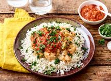 Cabillaud rouge, riz basmati à la coriandre