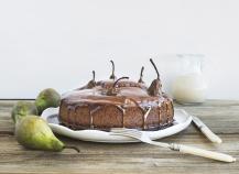 Gâteau au chocolat et poires
