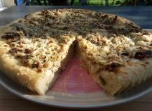 Tarte aux poireaux façon pizza