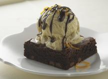 Moelleux au chocolat et sa Crème glacée à la vanille