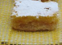 Petits carrés au citron
