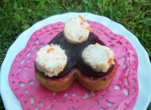Coeurs moelleux gourmands basilic, betterave et panna cotta de surimi