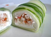 Spring-roll de concombre et Saint-Môret®...qui cache bien son jeu !