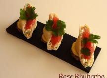Conchiglie sur toast mayonnaise acidulée farcie au saumon fumé et cottagecheese pamplemousse