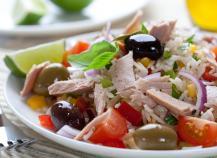 Salade de riz au thon classique
