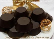 Chocolat fourré, à la crème caramel au beurre salé aux noix