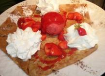Crêpe fraise melba