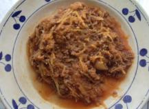 Courge spaghetti à la bolognaise