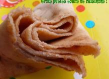 Pâte à crêpes croustillantes au parfum d'amande, sans lait ni oeuf