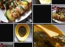 Mini brochettes de boeuf et coulis de poivrons épinards faciles