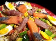 Sashimi Salad ! Faites le plein d'Omegas 3 !