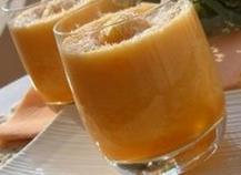 Verrine originale de melon à la noix de coco