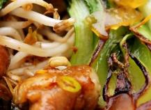 Poulet pok choi aux sojas