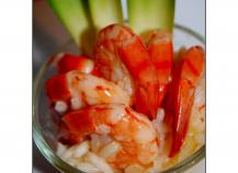 Risotto aux crevettes et ananas