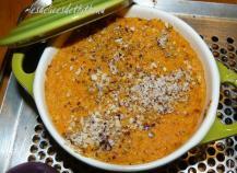 Cocotte soufflée de carottes aux noisettes