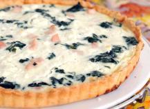 Tarte saumon et poireaux au fromage à la crème Elle & Vire