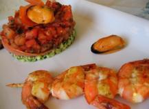 Tartare de tomates et courgettes, aux parfums Méditerranéens