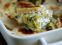 Gratin de poireaux au fromage à raclette RichesMonts