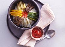 """Bibimap """" Riz aux légumes et à la viande de boeuf"""