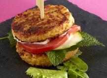 Burger végétarien façon tortilla