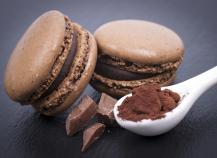 Macarons lisses chocolat
