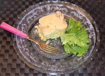 Crumble de poulet aux poireaux et curry