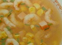 Soupe de maïs et de poulet