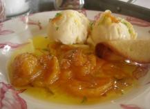 Clementines de Corse caramélisées et glace vanille