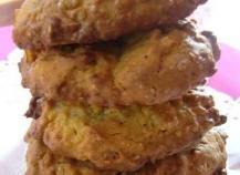 Cookies au muesli, son d'avoine et noix