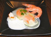 Ravioles de navet au surimi, à l'écume anisée