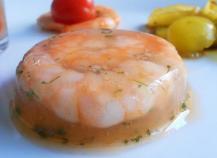 Crevettes en gelée de pamplemousse