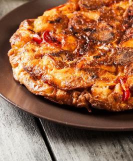 Quiche sans pâte chorizo & pommes de terre