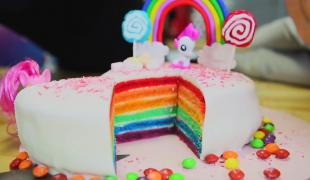 "Rainbow cake spécial ""My Little Pony"""