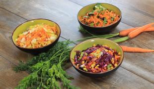 3 jolies façons d'accommoder une salade de carottes râpées